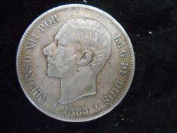 ESPAGNE-5 PESETAS 1888 (88) MS.M - Non Classificati