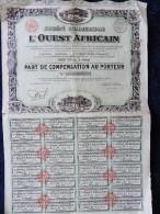 Bon Au Porteur - Société Commercial De L' Ouest Africain ( 1932 ) . - Afrique
