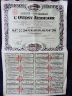 Bon Au Porteur - Société Commercial De L´ Ouest Africain ( 1932 ) . - Afrique