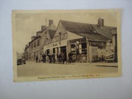 CPA 60 - BALAGNY-sur-THERAIN - La Place Et Le Débit De Tabac - Tres Belle Animation - Francia