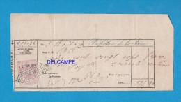 Timbre Imperial Sur Quittance - Dimension 20 C - 5 Cs En Sus - Cachet RS - 1879 - Préfecture De La Seine - Fiscaux