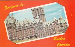Souvenir De Québec - Greetings From - Château Frontenac Et Terrasse - VG Condition - Québec - Château Frontenac