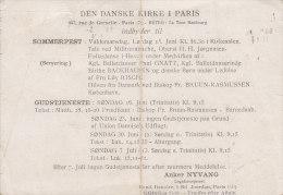 France Postal Stationery Ganzsache Entier Privée 2.40 Fr. Iris DEN DANSKE KIRKE I PARIS 1946 To PARIS (2 Scans) RARE !!! - Ganzsachen