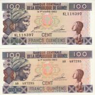 GUINEE 100 Francs UNC 1998 Et 2012 - Guinée