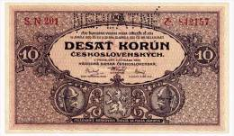 CZECHOSLOVAKIA 10 KORUN 1927 'NEPLATNE' Pick 20s Unc - Tchécoslovaquie