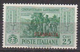PGL BN1461 - COLONIE ITALIANE EGEO STAMPALIA SASSONE N°19 ** GOMMA BICOLORE BICOLOURED GUM - Egeo (Stampalia)