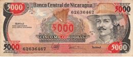 NICARAGUA 5000 Cordobas 1985 VF P146 - Nicaragua