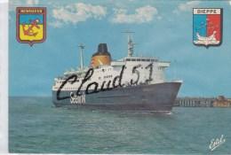 Paquebot ;Le SENLAC ,Car Ferry De La Compagnie Sealink ,entrant Au Port:DIEPPE (76) - Steamers