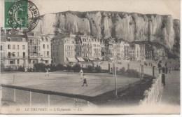 LE TREPORT  L'ESPLANADE  JOUEURS DE TENNIS - Le Treport