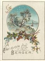 CHROMO CALENDRIER 1889 AMIDON BERGER FORMAT 8 X 6 CM VOIR LES DEUX SCANS - Calendriers