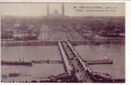Paris 7ème -  Crue De La Seine ( Janvier 1910), La Seine Vue De La Tour Eiffel - La Crecida Del Sena De 1910