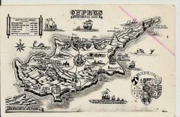 CHYPRE HISTORICAL CYPRUS CARTE PHOTO GEOGRAPHIQUE TRES BON ETAT - Chypre