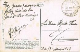 8717. Postal SAN FELIU De GUIXOLS (Gerona) 1912. Sin Franqueo, Remite Cartero - Cartas