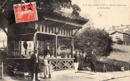 PARIS BUTTES CHAUMONT LE BUFFET BEBE GARDE CHAMPETRE SERVEUSE  VENTE DE CARTES POSTALES - Arrondissement: 19