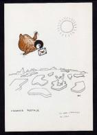 TAAF Terre Adélie Carte P.E. Victor L'AGENCE POSTALE - TAAF : Terres Australes Antarctiques Françaises