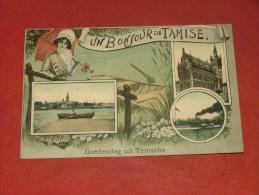 TEMSE  -  TAMISE  -   Goedendag Uit Temsche  -  1912  -  (2 Scans) - Temse