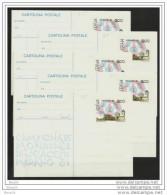 1981 Italia Italy Repubblica INTERI POSTALI 5 Cartoline Postali MERANO 200L CAMPIONATO MONDIALE DI SCACCHI - Scacchi