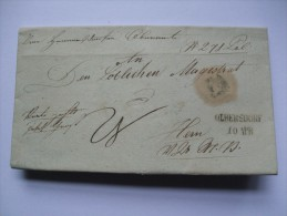 AUSTRIA 1840 WRAPPER OLBERSDORF TO WIEN - ...-1850 Vorphilatelie