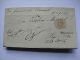 AUSTRIA 1840 WRAPPER OLBERSDORF TO WIEN - Austria