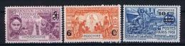 Indo-Chine : Yv  147 - 149 MH/* - Indochine (1889-1945)