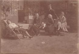 AISNE,PICARDIE,VOUEL EN 1931,TERGNIER,PICARDIE,am Is,famille De L´époque,banc Exterieur,chaise Longue,rare