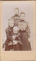 Photo Portrait Famille Femme, Enfants, Filles  6.5 X 10.5 Cm - Unclassified