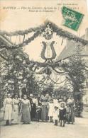 Cpa, Matour, Fetes Du Concours  Agricole 1913, Place De La Fontaine - France
