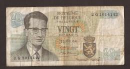 België Belgique Belgium 15 06 1964 20 Francs Atomium Baudouin. 2 G 1014142 - [ 6] Treasury