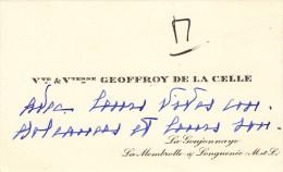 Vicomte De La Celle-la Goujonnaye-la Membrolle Sur Longuenée(maine Et Loire) - Visiting Cards