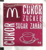 McDONALD´S * McCAFE * COFFEE * WHITE SUGAR * Mc Cukor 2013 12 06 * Hungary - Sucres