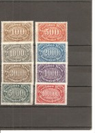 Alemania-Germany Yvert  185-92 (MH/*) - Ungebraucht