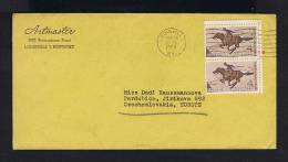 USA US Horses Chevaux Faune Animals Animaux 1960 Pony Express 2x Messanger Courrier Man-mail Post Sp2224 - Correo Postal