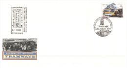 (PH 363)  Australia Historic Tramway TPO - 1989 (2 Covers) South Australia - FDC
