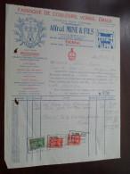 Alfred MINE & Fils Tournai 1937 / Tax Zegels ( Zie Foto Voor Details )! - 1900 – 1949