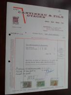 Voyages CANTINEAU  Quaregnon 1970 / Tax Zegels ( Zie Foto Voor Details )! - Sports & Tourisme