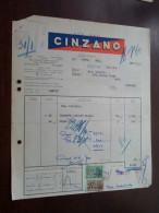 CINZANO Bruxelles 1953 / Tax Zegels ( Zie Foto Voor Details )! - Alimentaire