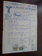 L. Van IERSEL - Van Havermaet Te St. NIKLAAS-WAAS 1963 / Tax Zegels ( Zie Foto Voor Details )! - Alimentaire