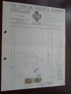 Th. Van De WIELE & Zonen Te ZELE 1963 / Tax Zegels ( Zie Foto Voor Details )! - Alimentaire