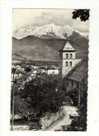 Cpsm N° 110 SALLANCHES L ' Eglise Et Vue Sur Le Mont Blanc - Sallanches