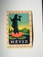 Etiquette Valise Luggage Label  - Hungary  - Veszprém Hévíz   S11.19 - Hotel Labels