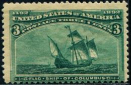 DK0217 United States 1893 Columbus Sailing 1v MNH - Unused Stamps