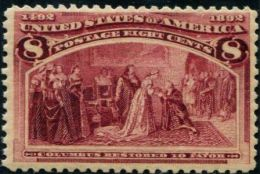 DK0218 United States 1893 Columbus Begged The Queen 1v MNH - 1847-99 General Issues