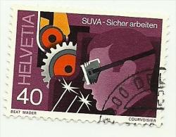 1978 - Svizzera 1064 Sicurezza Sul Lavoro C3257, - Usati