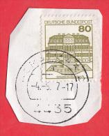Allemagne 1982 - 80 P. Château De  Wilhelmsthal  - YT 970  Sur Fragment - - Castles