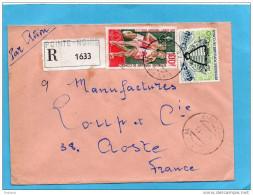 MARCOPHILIE-lettre REC- Congo-pour Françe Cad- 1975-2stampsN°341 Insect Abeille+N°A 183 Sports-course -relais - Congo - Brazzaville