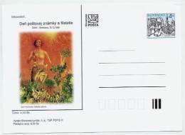 SLOVAKIA 1999 4 Sk. Bratislava Postcard With Advertisment: Stamp Day - Postcards