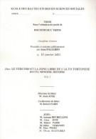 THESE VERCORS ZONE LIBRE ALTO TORTONESE RECITS MEMOIRES HISTOIRE GUERRE MAQUIS OCCUPATION FFI FTP RESISTANCE - 1939-45
