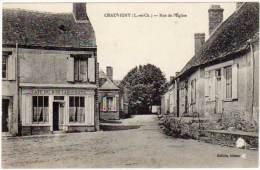 Chauvigny - Rue De L'église (café Bon Laboureur à Gauche) - France
