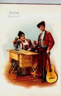 Singer Sewinig Trade Card 1892 Spain Sevila - Advertising
