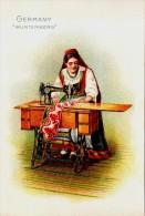 Singer Sewinig Trade Card 1892 Germay Wurtemberg - Advertising